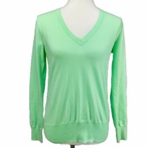 J.Crew Pullover Sweater Small Light Green V Neck